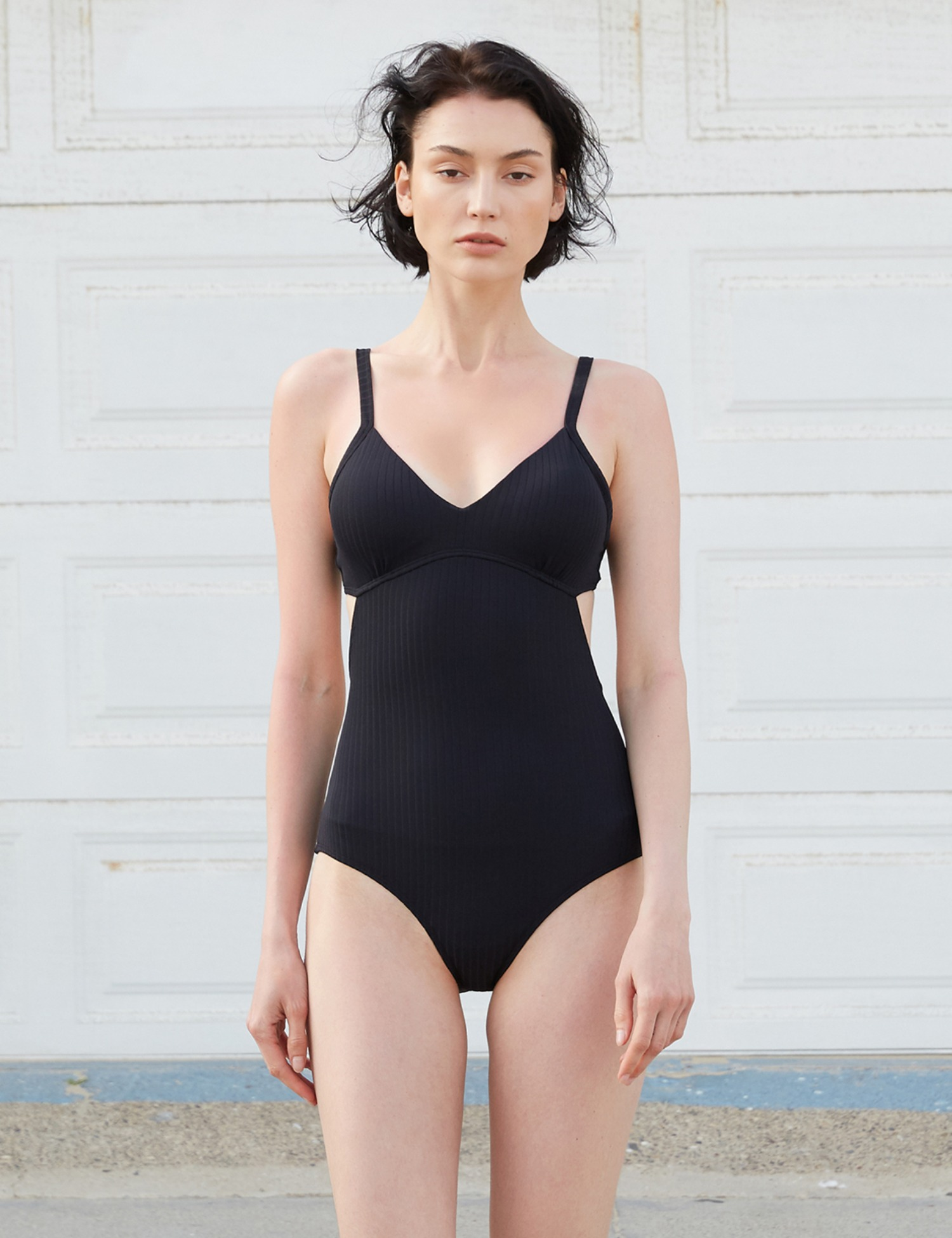 RIBBED MONOKINI SWIM_BLACK